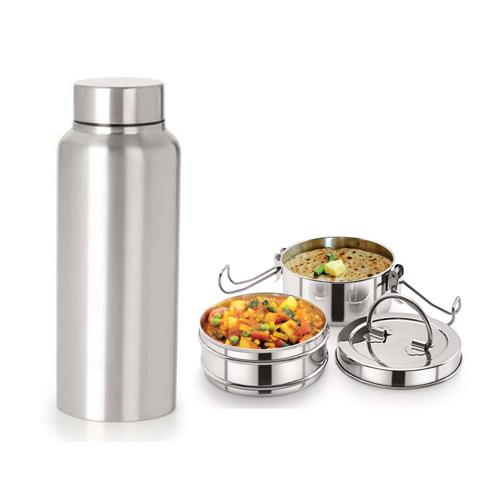 Neelam Combo 2 Tiffin with Bottle