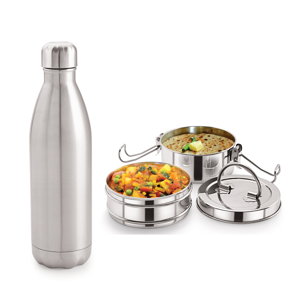 Neelam Combo 27 Tiffin with Bottle