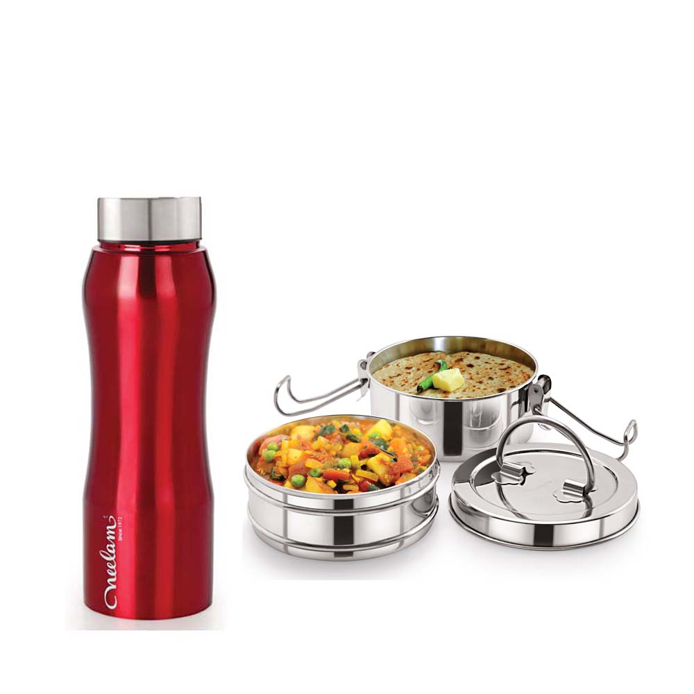 Neelam Combo 8 Tiffin with Bottle