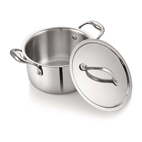 Neelam Tri Ply Stainless Steel Sauce Pot 16 cm with Lid