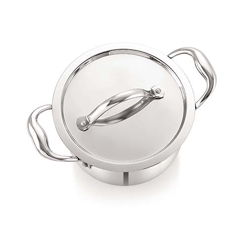 Neelam Tri Ply Stainless Steel Sauce Pot 18 cm with Lid